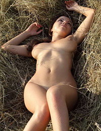 She likes to work naked on the field